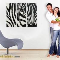 harga Lukisan Minimalis Kode ZEBRA | Lukisanku Tokopedia.com