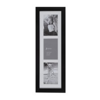 Jbrothers Collage Frame CF 21 - 3 openings 3R Vertical Style - Hitam