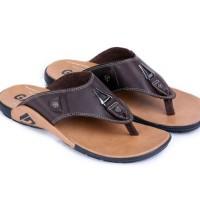 Jual sandal pria bahan kulit asli sendal kulit laki-laki sandal casual cowo Murah