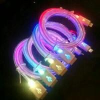 harga kabel usb charger / data micro usb led lampu pelangi (kabel bulat) Tokopedia.com