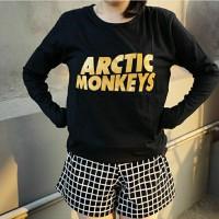 kaos fashion TUMBLR TEE T-shirt wanita lengan panjang arctic monkeys