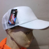 topi jaring putih polos