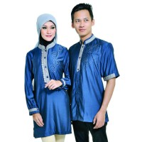 Baju Couple Muslim Katun - Baju Koko Pria - ALY 334 JAVA SEVEN