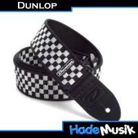 Strap Gitar/Bass DUNLOP Black & White Check
