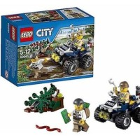 LEGO City - 60065 ATV Patrol Swamp Police Crook Motor Car Minifigures