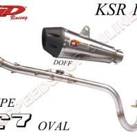 harga Knalpot CLD Racing KSR 110 type C7 Silencer Oval Doff Tokopedia.com