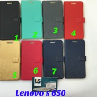 Lenovo S650 Wallet Easy Bear Flip Cover Silikon Soft Case Sarung S 650