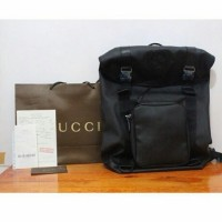 JUAL TAS GUCCI GG SUPREME CANVAS LARGE BLACK MIRROR QUALITY