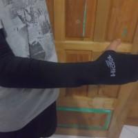 53 cm Manset Lengan Arm Sleeve Arm Warmer Fingerless Hicool