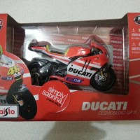 miniatur diecast moto gp maisto skala 1/18 valentino ROSSI Ducati 2011