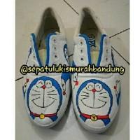harga Sepatu Lukis Doraemon Tali Putih Tokopedia.com