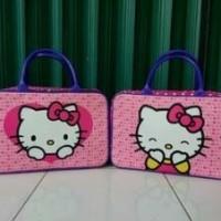 Tas Travel Bag Koper Kanvas Renang Kotak Anak Dewasa Hello Kitty