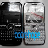 Casing Case Housing Nokia E72 E-72 Hitam Putih Fullset