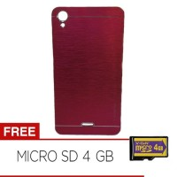 Motomo Metalicase For Infinix Hot Note X551 - Merah + Gratis Memory 4G