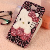 leopard hellokitty diamond case made in order for iphone samsung oppo