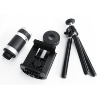 Lensa Telezoom + Tripod + Holder