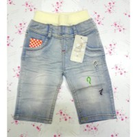 Celana Jeans Bayi Import - Celana Jeans Baby Pocket Smile