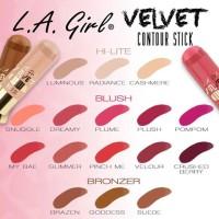 LA Girl Velvet Contour Stick / Blush On Bronzer Highlight Makeup Arti