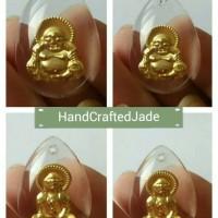 1 Pasang - Liontin Emas 24K Kristal (Buddha & Kwan Im)
