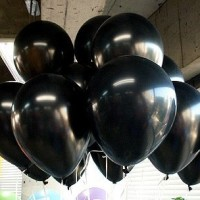 Balon Hitam Metalic - 25pcs/pak