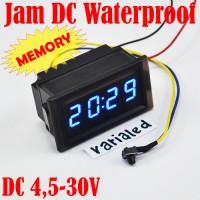 Jual Digital MiNi DIY Clock Watch JAM DC:7-30V Panel 0.4Inch RainProof LED Murah