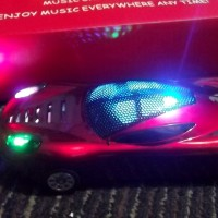 Speaker Portable LED MP3 Player Music FM Radio Desain Ferrari Car