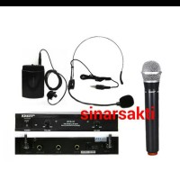 harga Mic Wireless Krezt Dtd 37 ( Handheld + Clip On + Headset ) Tokopedia.com