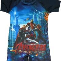 Baju Renang Anak Gambar Avengers ukuran 2-4 tahun