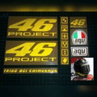 sticker helm, 46 project valentino rossi
