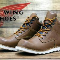 sepatu boot kerja proyek pld lapangan red wing asli kulit
