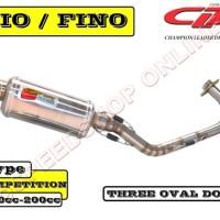 harga Knalpot CLD Racing Mio/Nouvo Type Kompetisi Silencer Oval Doff Tokopedia.com