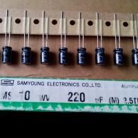 Capacitor Elco 220uF 10 V Original Samyoung