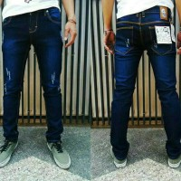 Jual Celana jeans pria sobek ripped keren import biru levis murah Murah