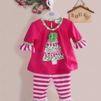 setelan baju natal  anak perempuan ( Rare Edition~