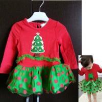 Dress Natal anak perempuan ( RE Dress Tutu Christm
