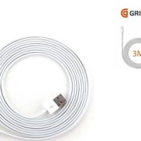 kabel data usb griffin panjang 3 meter untuk iphone 5G, 5S, iphone 6