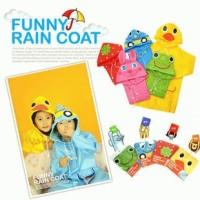 Funny Rain coat Jas Hujan Anak Karakter Lucu Raincoat