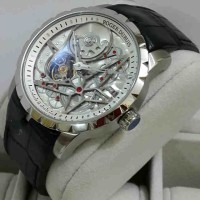 Roger Dubuis 2946 Silver White-Dial Leather