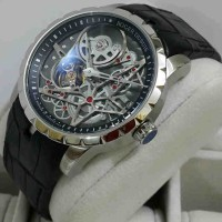 Roger Dubuis 2946 Silver Black-Dial Leather