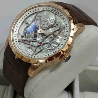 Roger Dubuis 2946 Rosegold Brown Leather