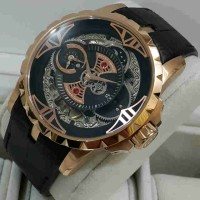 Roger Dubuis 2998 Double Time Rosegold Black-Dial