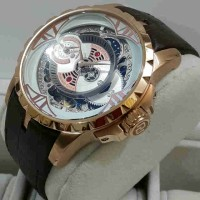Roger Dubuis 2998 Double Time Rosegold White-Dial