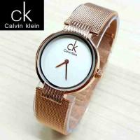 Jam Tangan Wanita Calvin Klein/CK Rantai Pasir  RoseGold