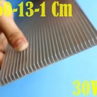 30W DIY Aquarium LED Heatsink Aluminum Plate 60Cm x13Cm x1Cm