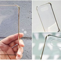Samsung Galaxy A8 Anymode Clear Case - Gold