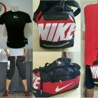 Nike Paket Baselayer + Big XL tas fitness + jogger Pants