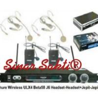 harga Mic wireless shure ULX 4 ( clip on + headset ) Tokopedia.com