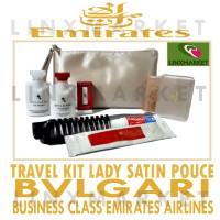 TRAVEL KIT BVLGARI LADY CREAM SATIN POUCE BUSINESS SUITE EMIRATES