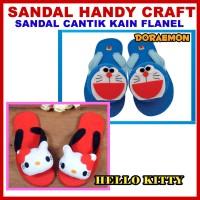 harga Sandal Jepit Lucu Hello Kitty Dan Doraemon Tokopedia.com