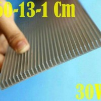 DIY Aquarium LED Heatsink Aluminum Plate 60Cm x13Cm x1Cm